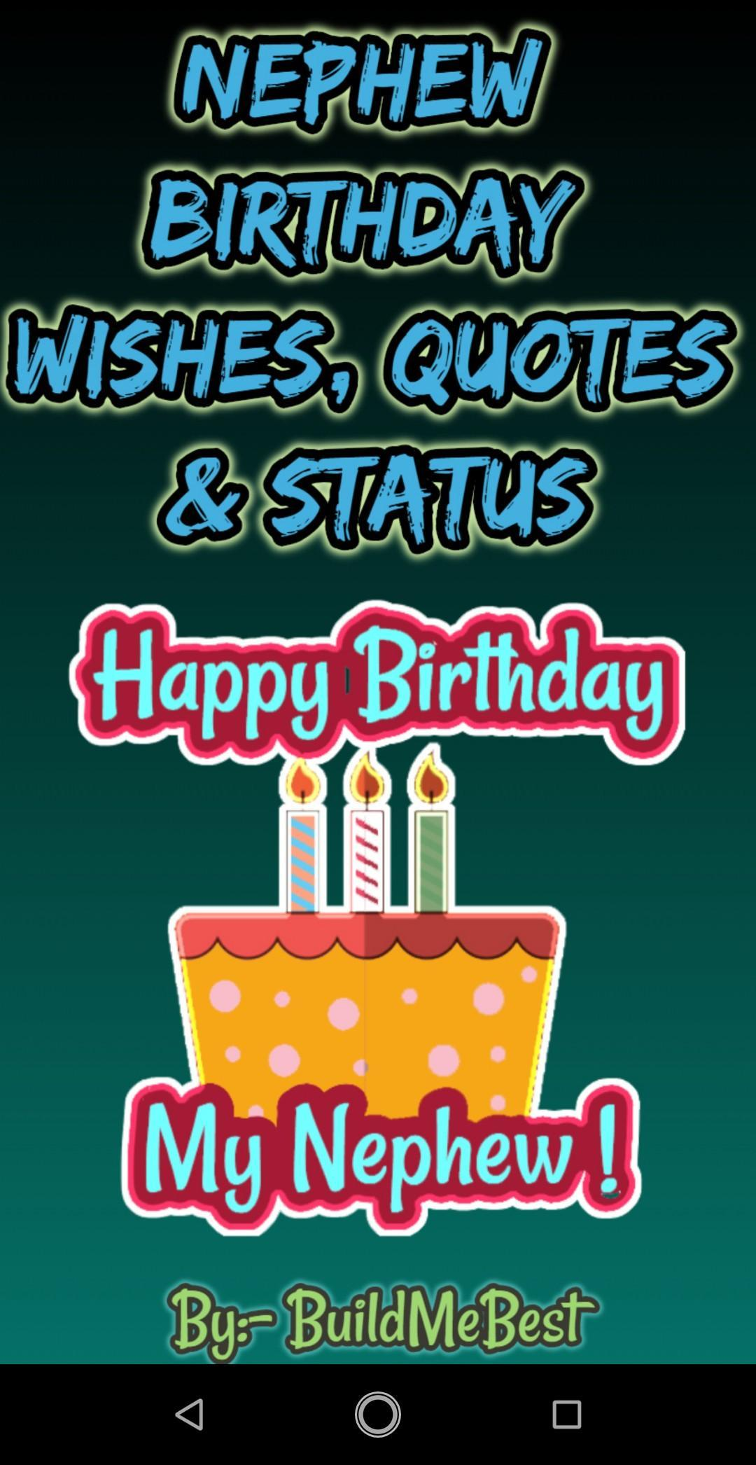 Birthday Wishes For Nephew Greeting Card Quotes Poster