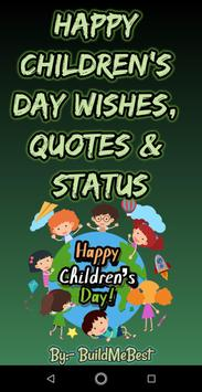 Happy Children's Day Wishes, Quotes & kids Status for