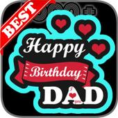 Happy Birthday Dad Wishes, Father Greeting Cards icon