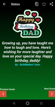 Happy Birthday Dad Wishes, Father Greeting Cards screenshot 2