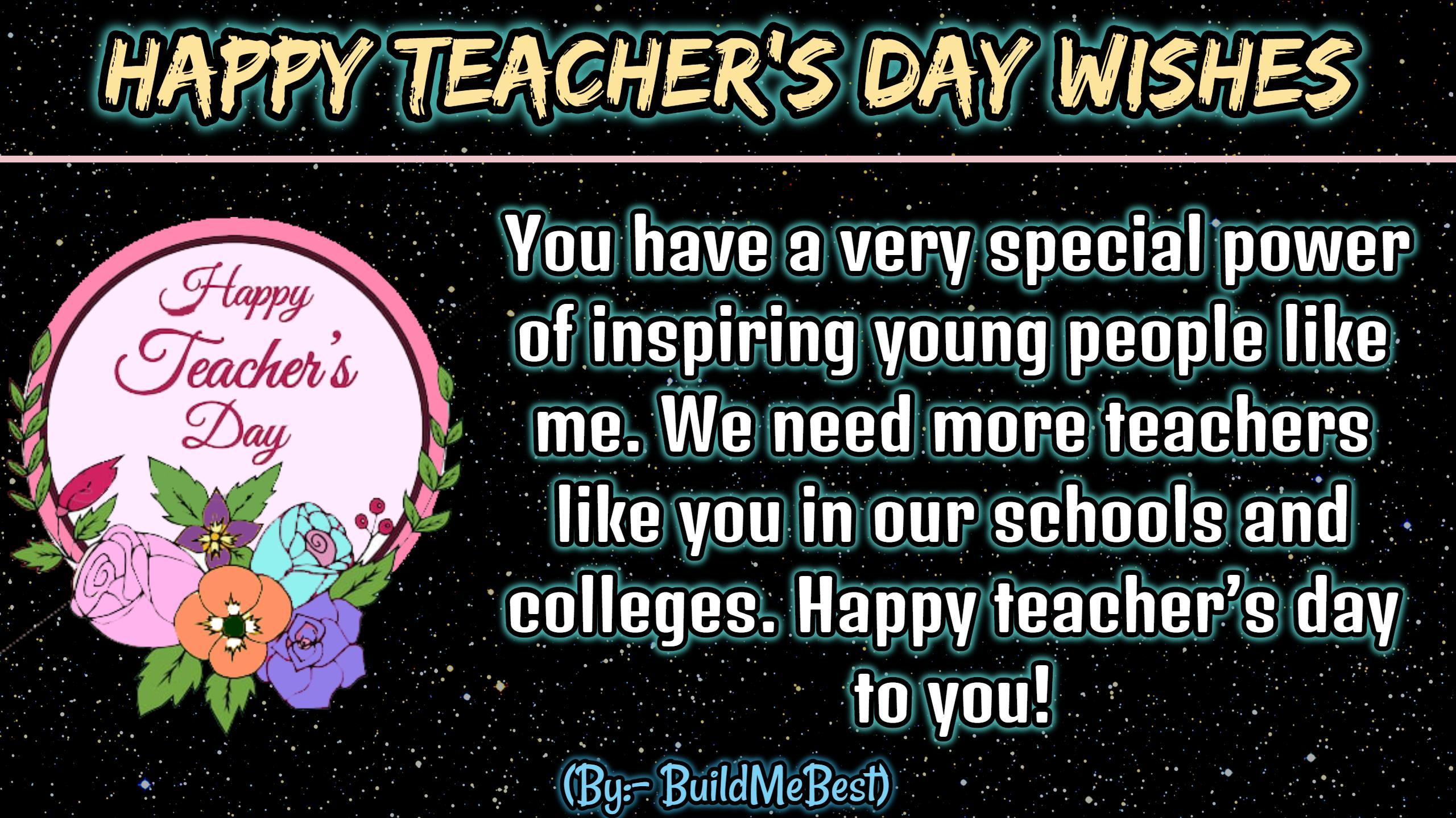 Happy teachers Day Wishes, Quotes & 5 Sept status for