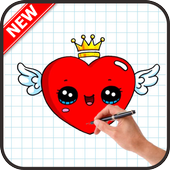 How To Draw Love icon