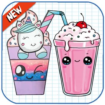 How To Draw Cute Sweet Drinks poster