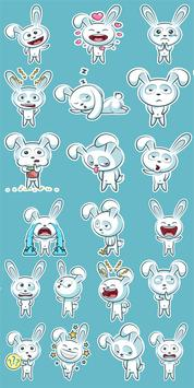 WASticker Apps Bunny Sticker Pack poster