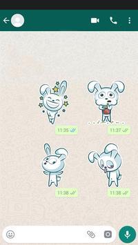 Bunny Sticker Pack for WhatsApp स्क्रीनशॉट 3