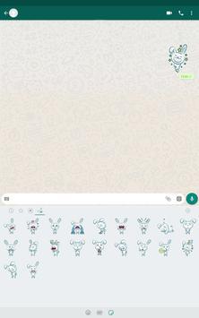 Bunny Sticker Pack for WhatsApp स्क्रीनशॉट 6