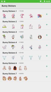 Bunny Stickers - WAStickerApps screenshot 1