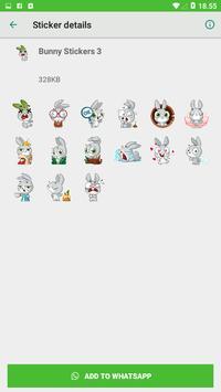 Bunny Stickers - WAStickerApps screenshot 2