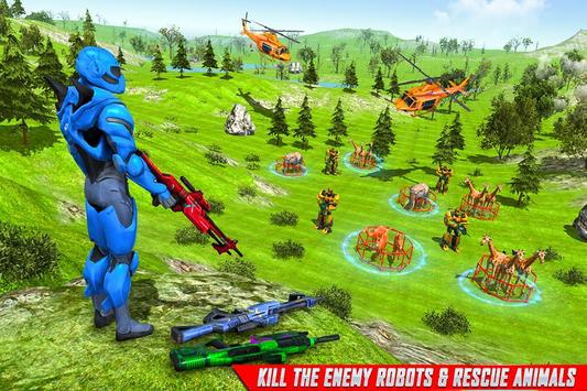 Police Robot Animal Rescue screenshot 4