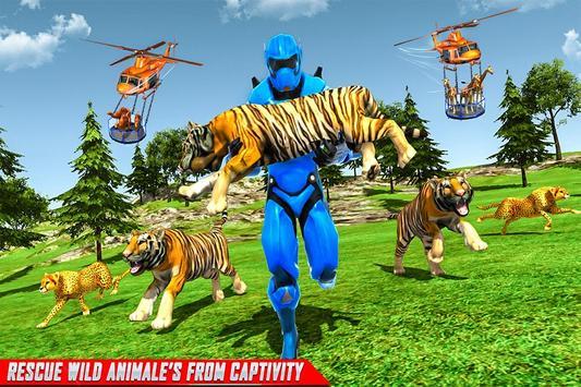 Police Robot Animal Rescue screenshot 5