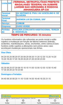 Intinerarios busao de Sumare screenshot 3