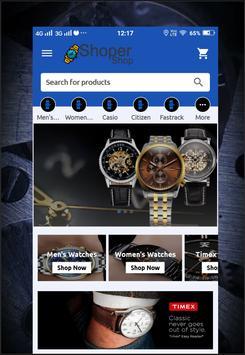Shopershop Buy Watche Online Shopping App poster