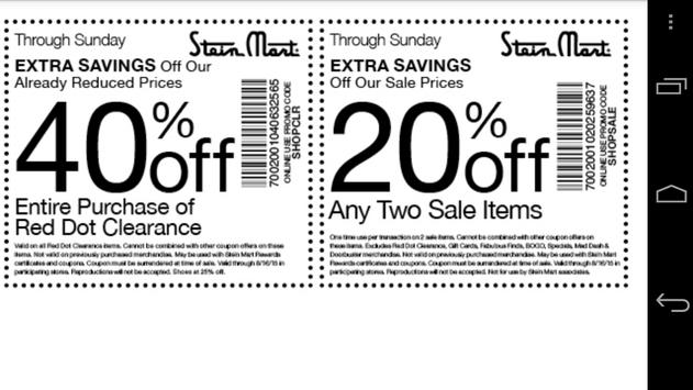 Coupons for Stein Mart screenshot 1