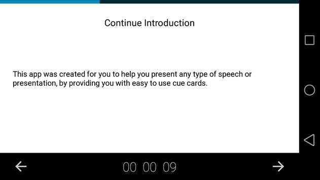Speech note cards स्क्रीनशॉट 1