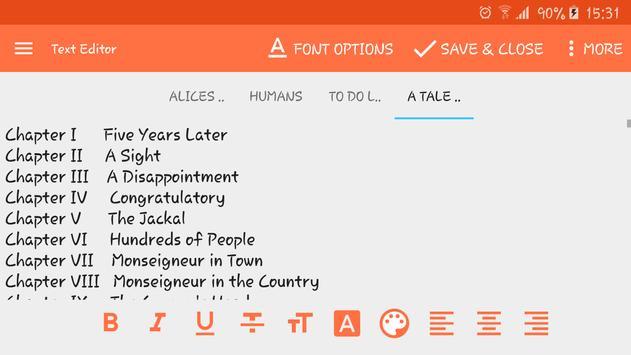 Text Editor screenshot 1