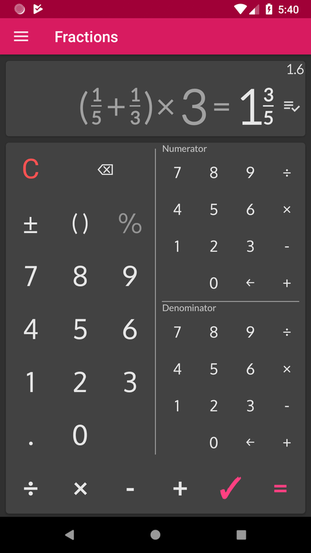 best fraction calculator android app