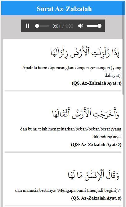 Bacaan Surat Pendek Al Quran Audio For Android Apk Download