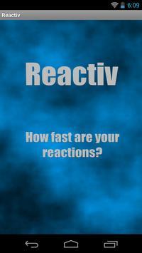 Reactiv poster