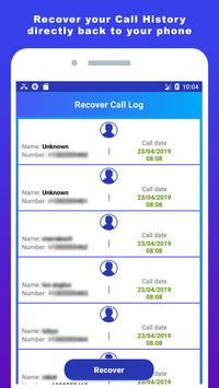 Recover deleted call log history screenshot 1