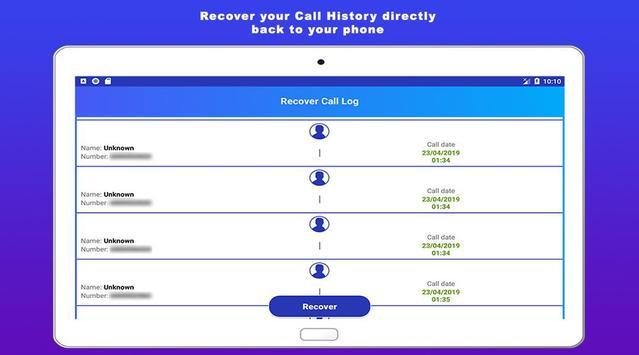 Recover deleted call log history screenshot 4
