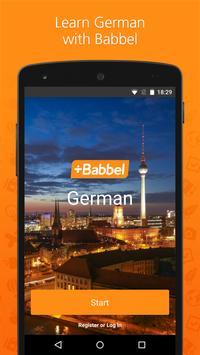 Babbel – Learn German poster