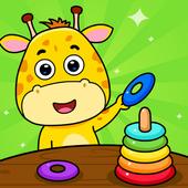 2岁和3岁的幼儿游戏 图标