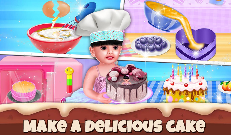 Aadhya Birthday Cake Maker Cooking Game Screenshot 8