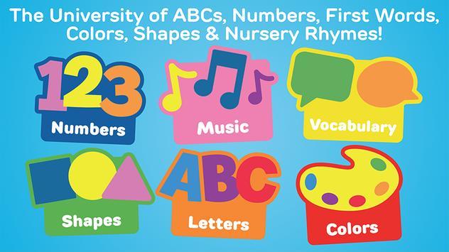 My First University: Baby Games, Alphabet & Shapes screenshot 1