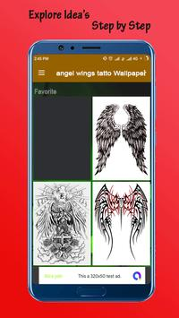 Angel Wings Tatto Wallpaper poster