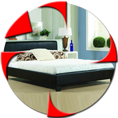 leather bed Design icon