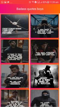 Badass Boys Quotes with photos poster