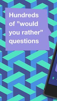 Scenario Game:would you rather poster