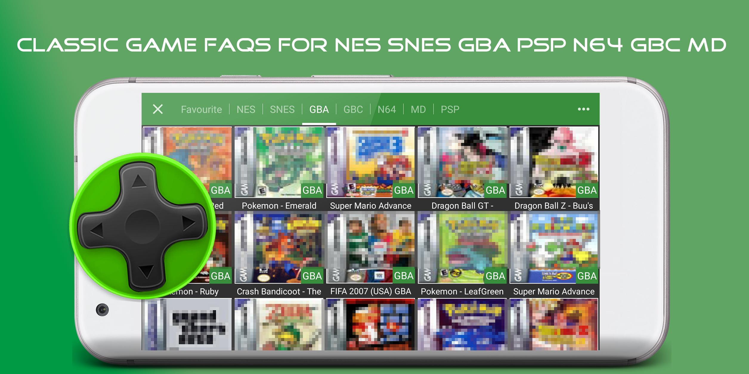 FAQs & Emulators for GBA SNES N64 for Android - APK Download