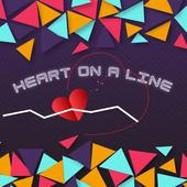 Heart on a Line icon