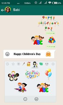 Stickers for Children's Day poster