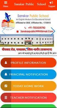 Sanskar Public School Parbatsar poster