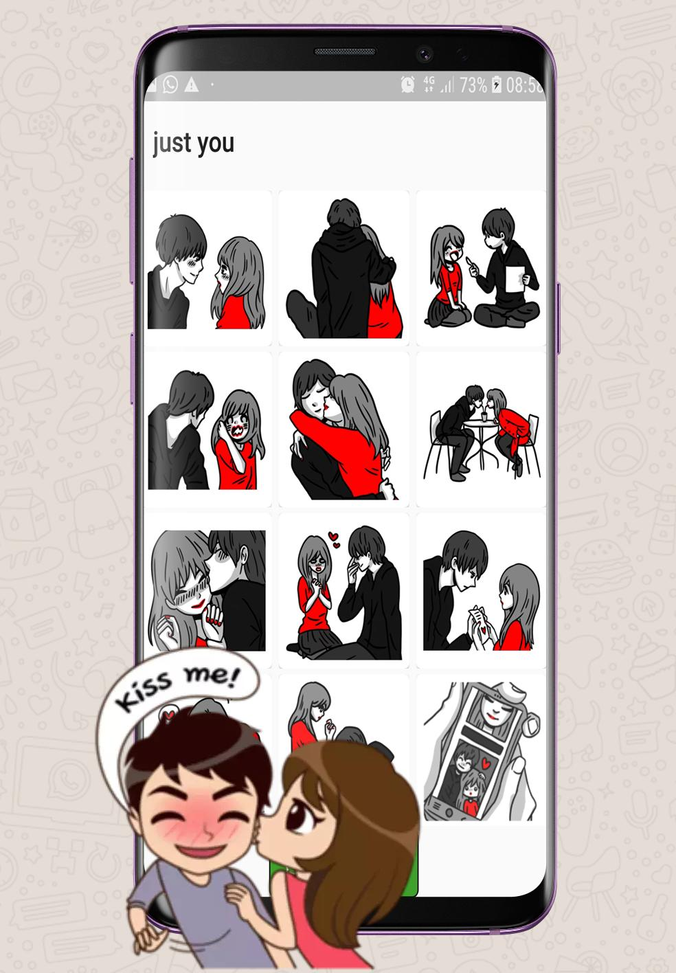Love Romance Sticker For Whatsapp Kiss And Hugs For Android Apk Download
