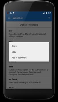 English - Indonesian Dictionary screenshot 2