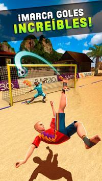 Dispara y Gol - Juego de Fútbol Playa Poster