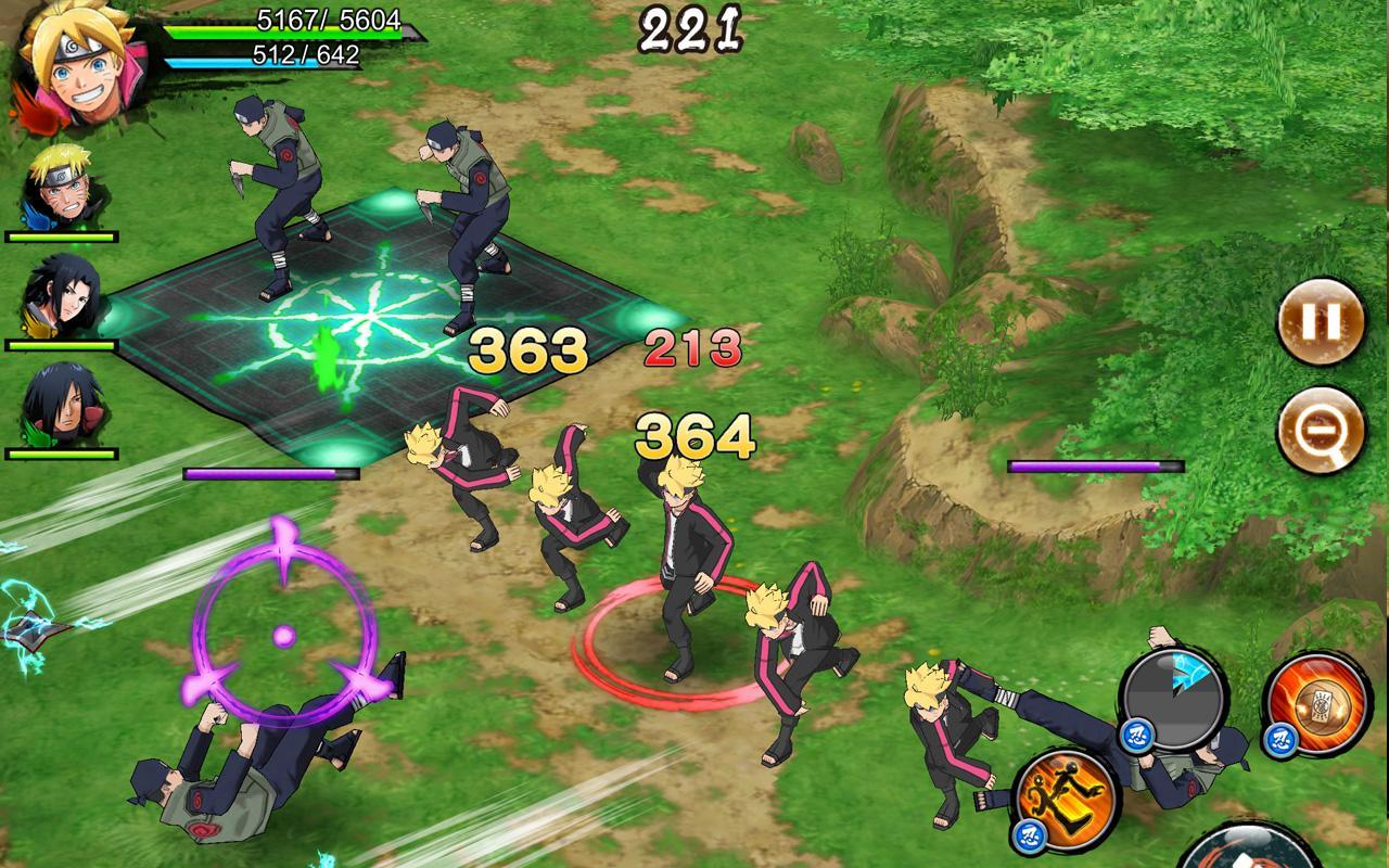 Hasil gambar untuk gambar game android naruto x boruto ninja voltage