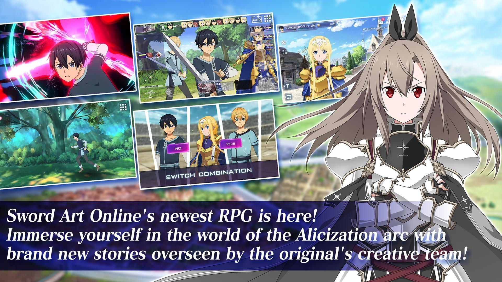 Sword Art Online Alicization Rising Steel For Android Apk