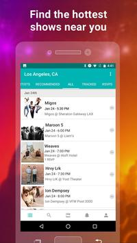 Bandsintown screenshot 2