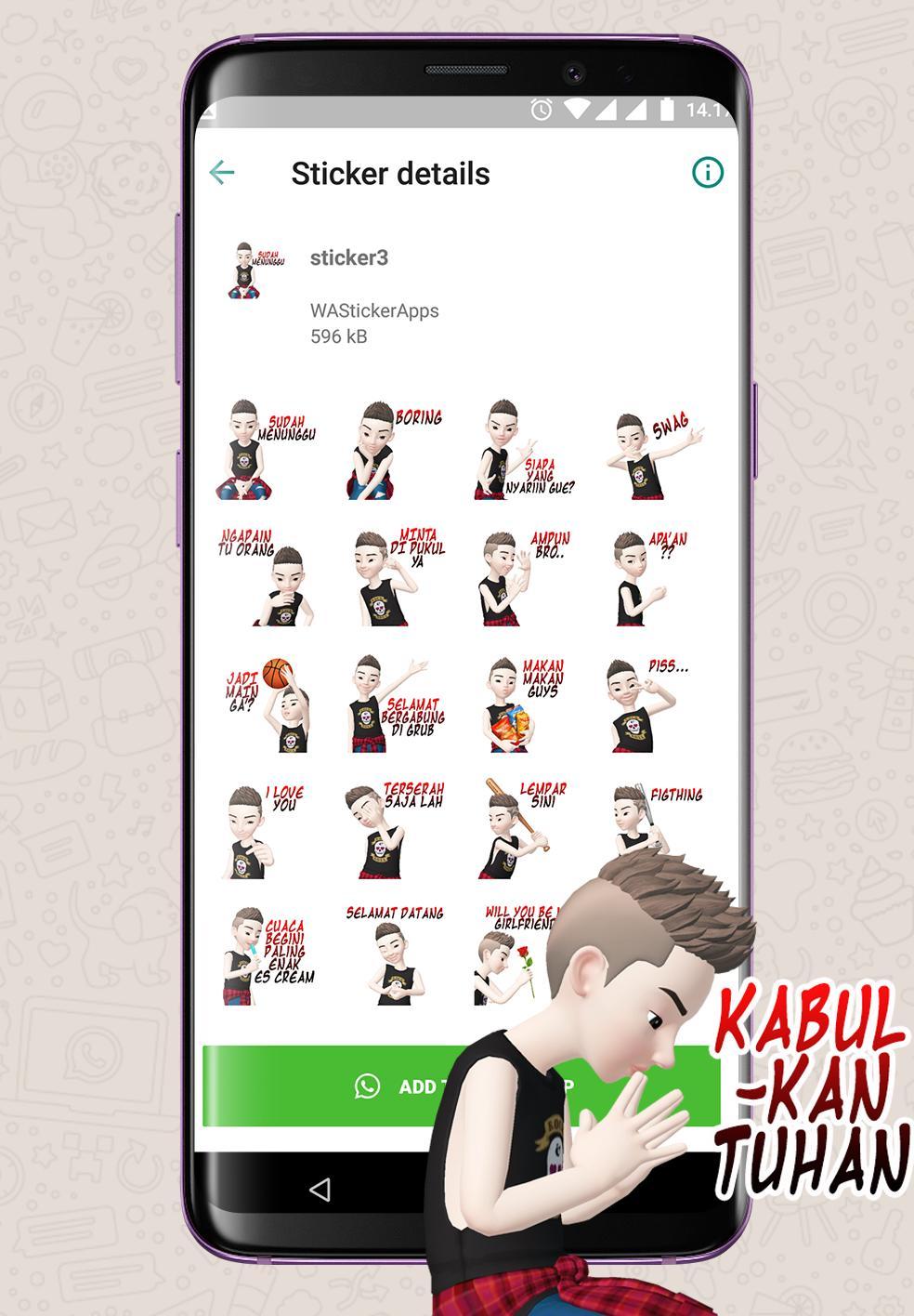 Stiker Cowo Gaul Gokil Dan Lucu WAStickerApps Para Android
