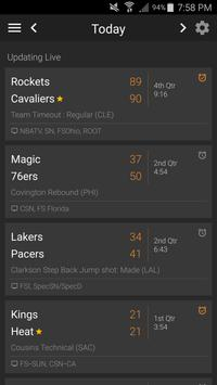 Basketball NBA Live Scores, Stats, & Plays 2020 poster