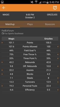 Basketball NBA Live Scores, Stats, & Plays 2020 screenshot 11