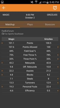 Basketball NBA Live Scores, Stats, & Plays 2020 screenshot 2