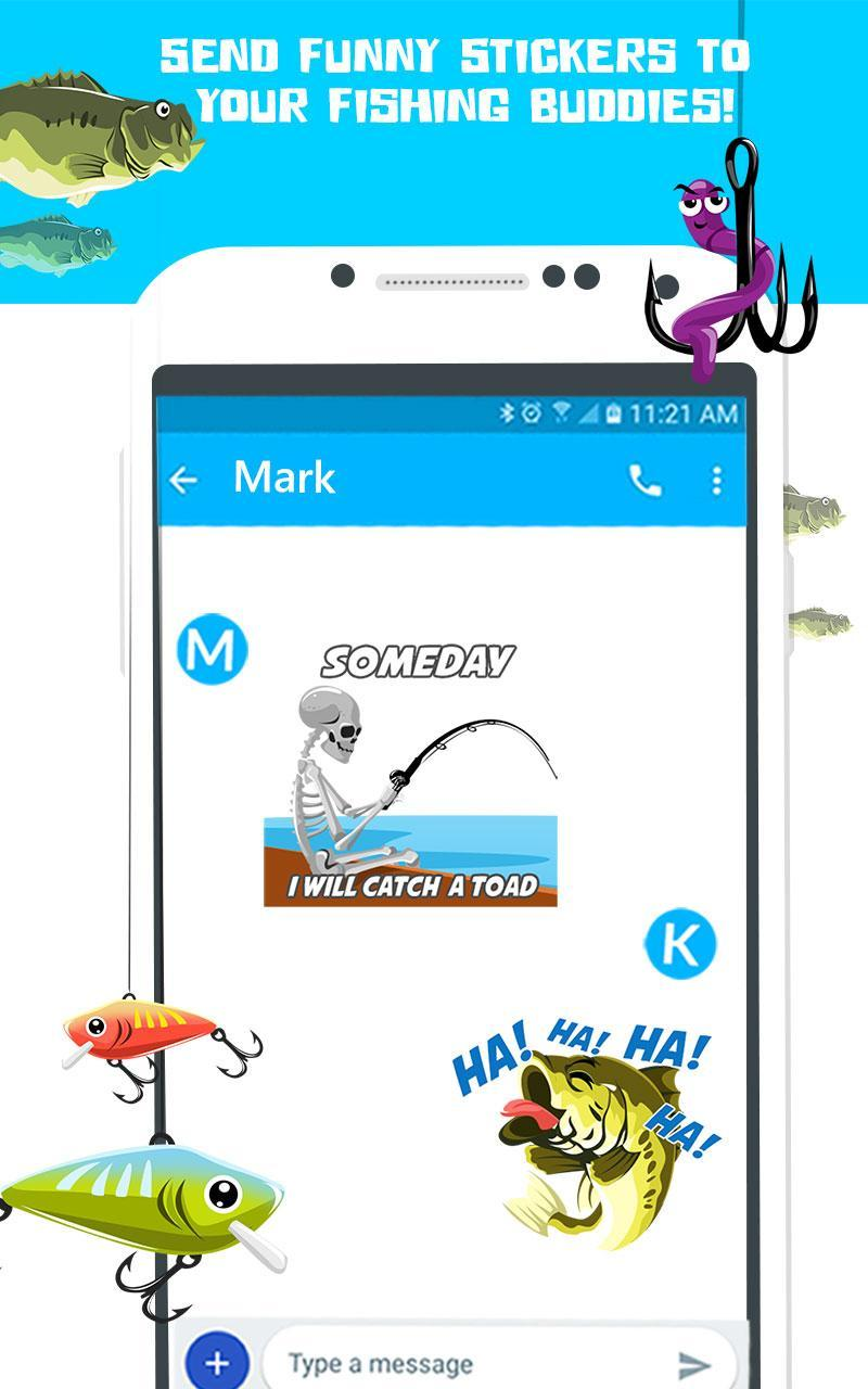 Pro Bass Fishing Stickers- Fish Angling Emoji App for Android - APK