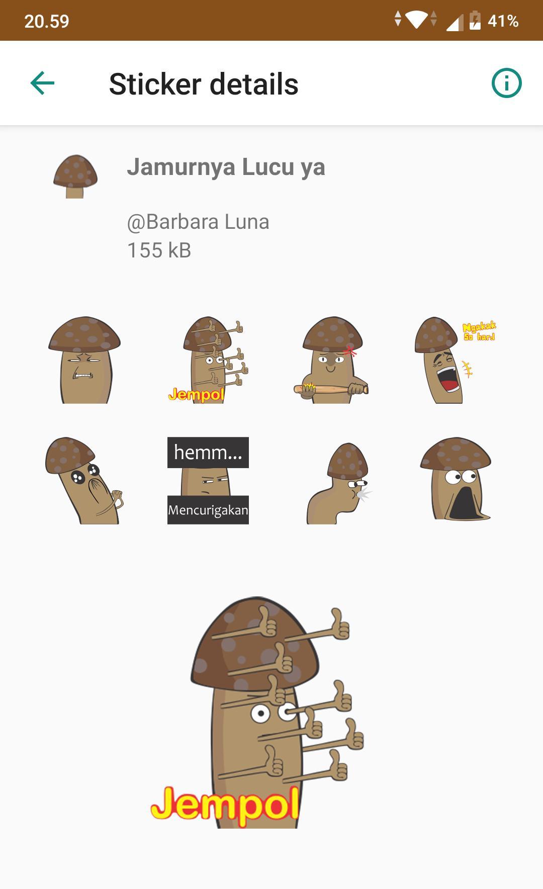 Stiker Mushroom Lucu For Android Apk Download