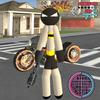 Stickman Bat Rope Hero Dark knight Crime APK