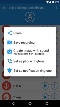 Voice changer with effects screenshot 4